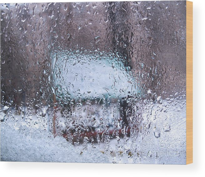 Snow Wood Print featuring the photograph Winter Abstract by Konstantin Sutyagin