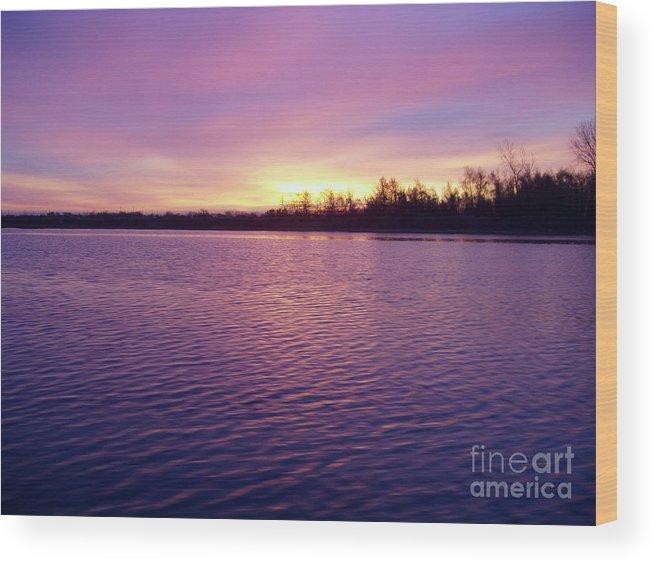 Winter Sunrise Wood Print featuring the photograph Winter Sunrise by John Telfer