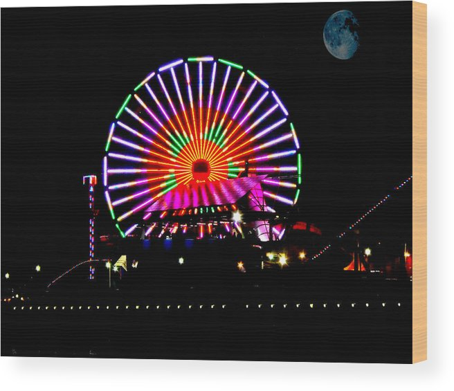 Santa Wood Print featuring the mixed media Winter Wheel by Tim Anderson