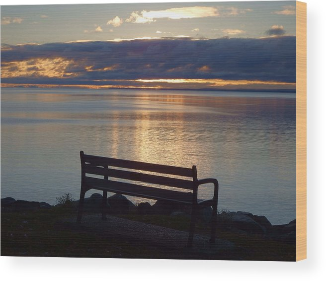 Lake Superior Wood Print featuring the photograph Wish You Were Here by Alison Gimpel
