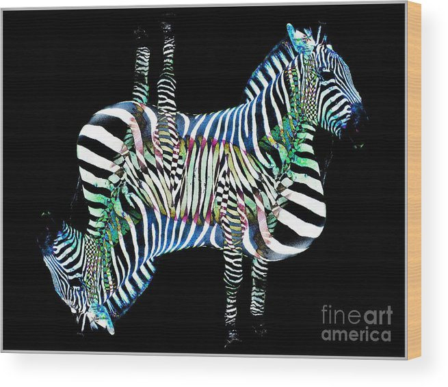 Zebra Wood Print featuring the photograph Zebra  by Lilliana Mendez