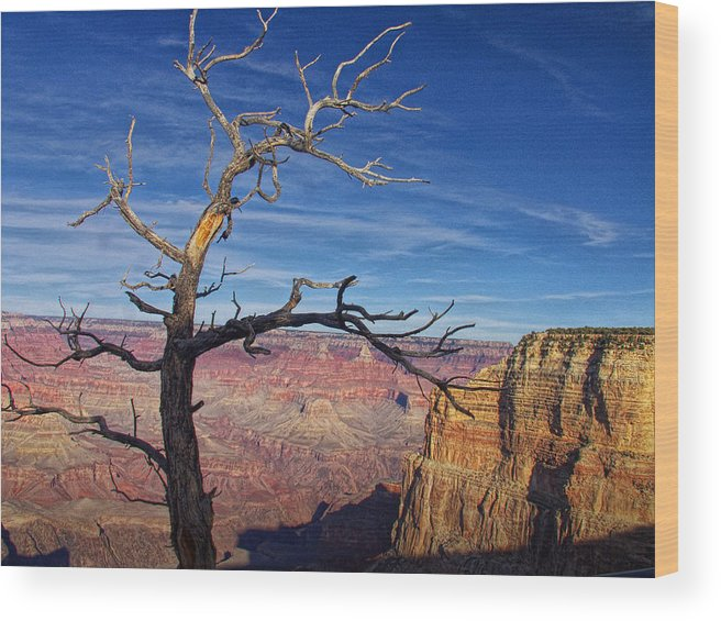 Art Wood Print featuring the photograph Grand Canyon At Sunset by Randall Nyhof