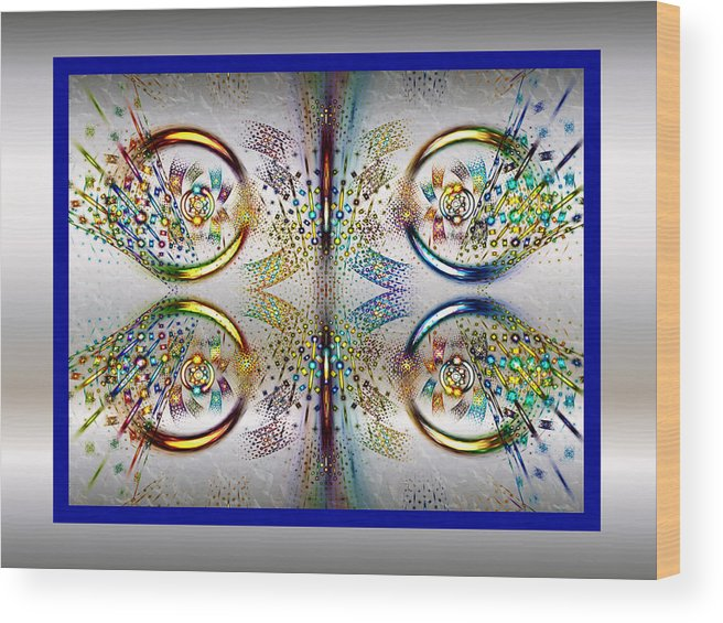 Fractal Wood Print featuring the digital art Party Mode by Janet Russell