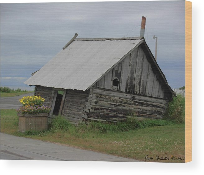 Homestead Wood Print featuring the photograph Alaska Homestead by Carri Schutter