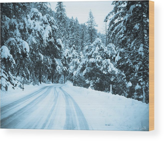 Adventure Wood Print featuring the photograph Almost There by Heidi Smith