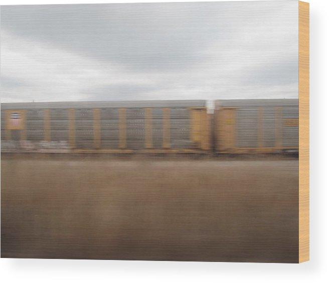 Train Wood Print featuring the photograph Amtrak Shot 3 by Stephanie Olsavsky