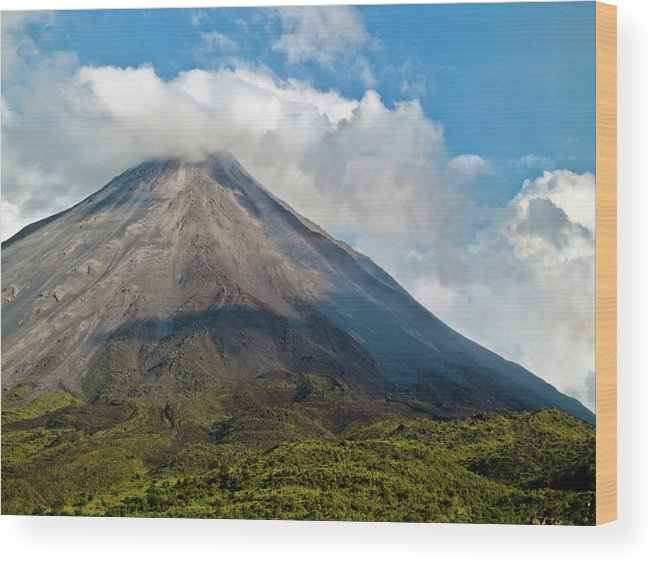 Arenal Wood Print featuring the photograph Arenal Volcano Costa Rica by Jim DeLillo