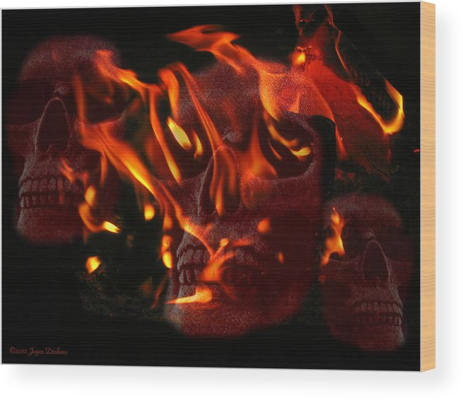 Burning Wood Print featuring the photograph Burning Man by Joyce Dickens