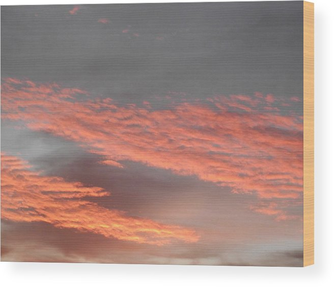 Sky Wood Print featuring the photograph Candy Floss by Rani De Leeuw