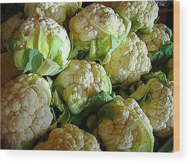 Cauliflower Wood Print featuring the photograph Cauliflower by Nick Kloepping