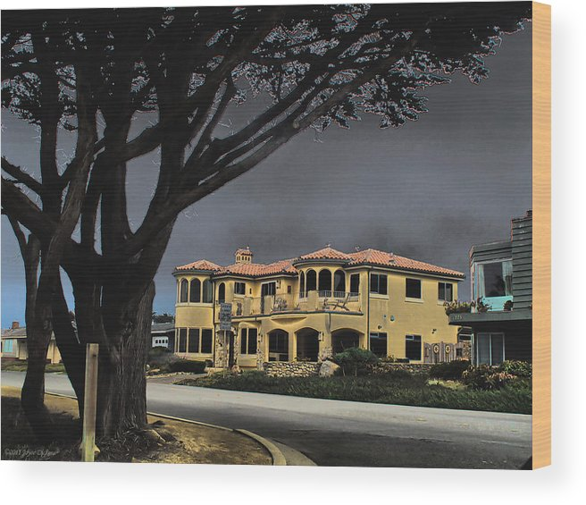 Architecture Wood Print featuring the photograph Coastal Architecture One by Joyce Dickens