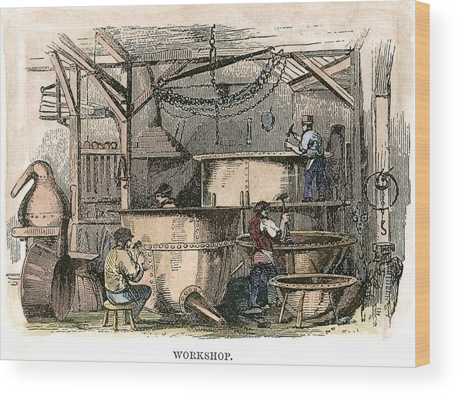 1860s Wood Print featuring the photograph Coppersmiths, C1865 by Granger