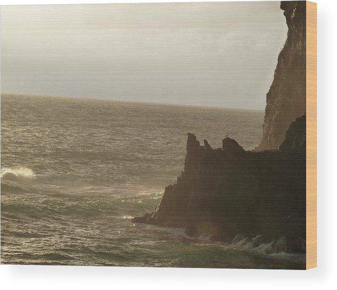 Corneglia Wood Print featuring the photograph Corneglia Coast by Nicole Chapman