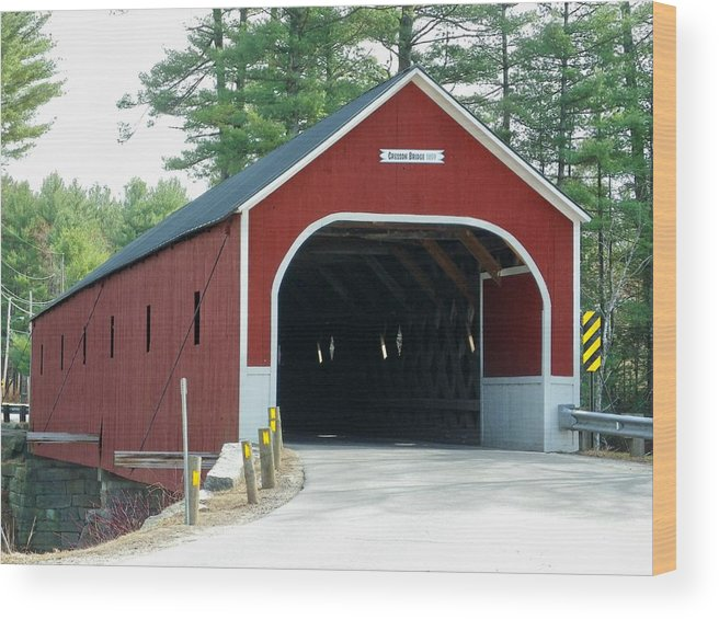 Nh Wood Print featuring the photograph Cresson Covered Bridge by Wayne Toutaint