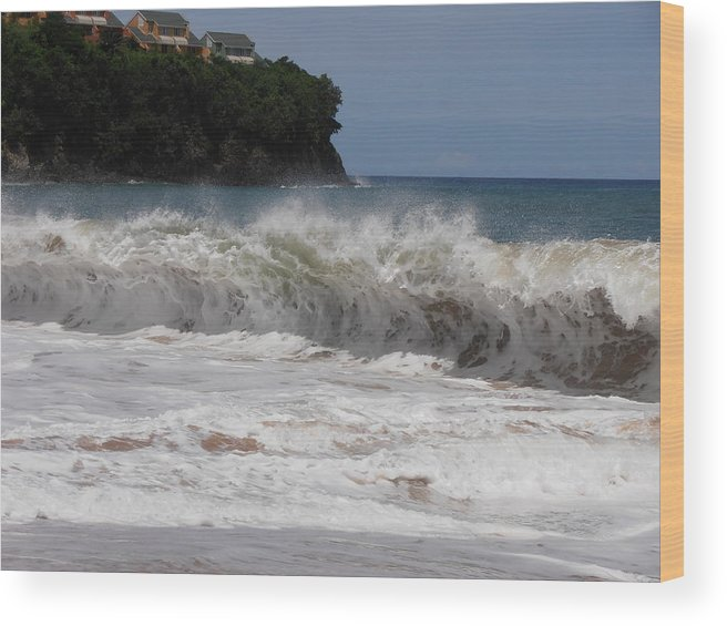 Wave Wood Print featuring the photograph Cresting Wave by Kimberly Perry