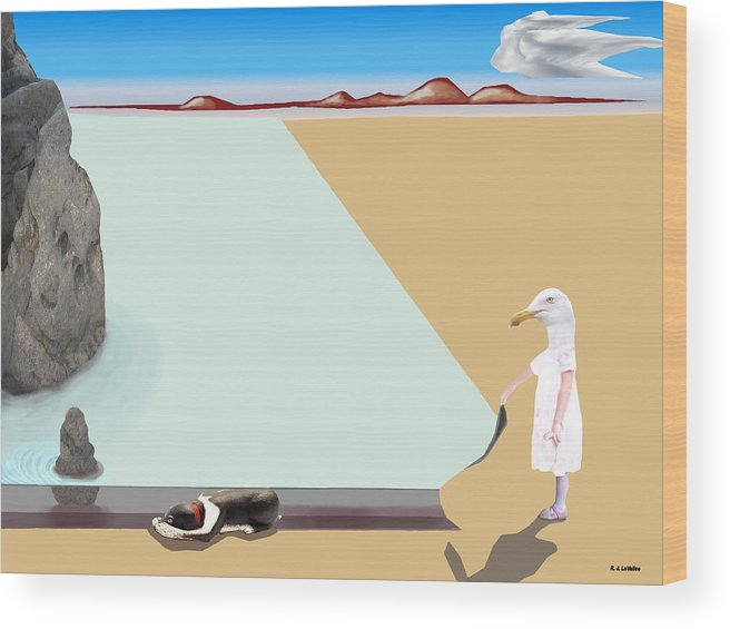 Dali Wood Print featuring the photograph Dalian Composition Number 1 by Roland LaVallee