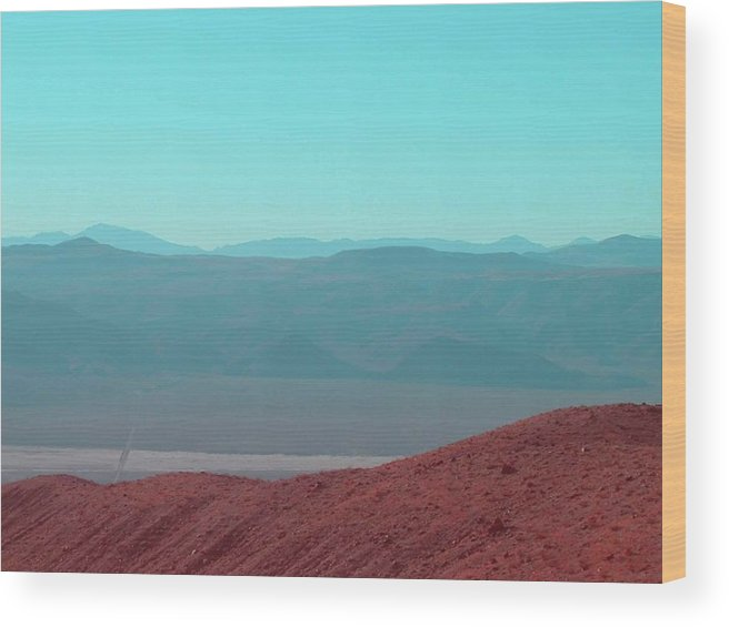 Nature Wood Print featuring the photograph Death Valley View 2 by Naxart Studio