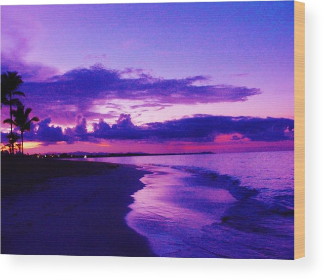 Beach Wood Print featuring the photograph Dream Sunrise by Marie-france Quesnel