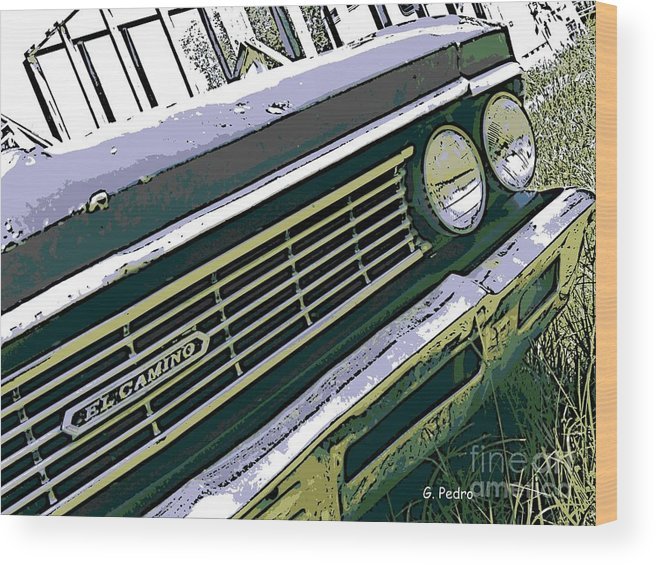 Chevrolet Wood Print featuring the photograph El Camino by George Pedro