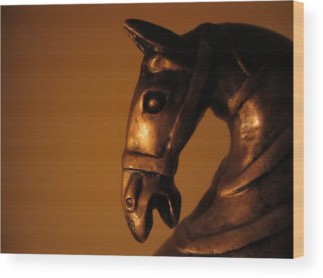 Horse Wood Print featuring the digital art Equus by Larry A White