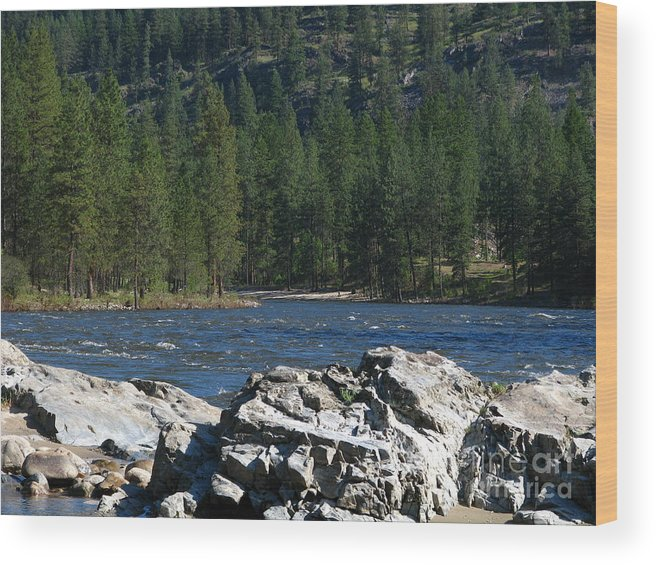 Art For The Wall...patzer Photography Wood Print featuring the photograph Fishing Spot by Greg Patzer