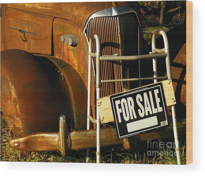 Auto Wood Print featuring the photograph Geri Car by Joe Jake Pratt
