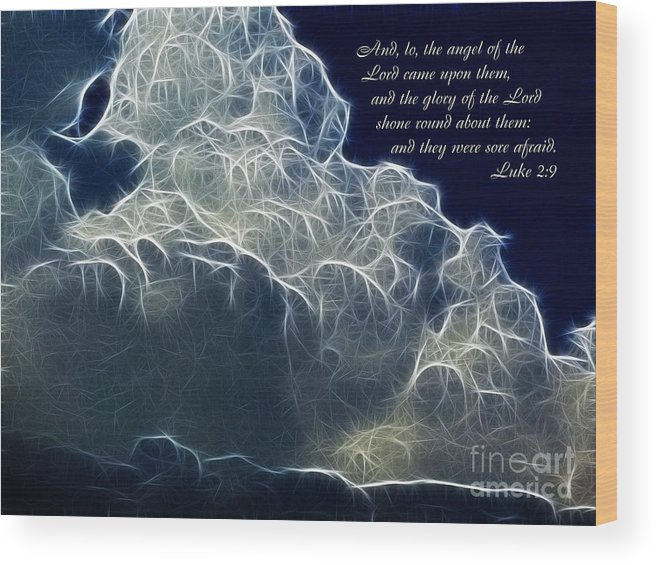 Glory Of The Lord Wood Print featuring the painting Glory Of The Lord by Methune Hively