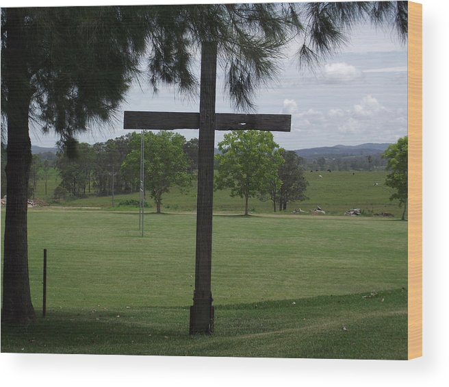 God Wood Print featuring the photograph He Has Risen by Rani De Leeuw