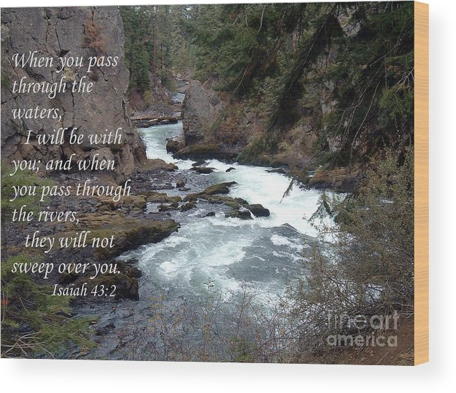 God Wood Print featuring the photograph He Is With You by Erica Hanel