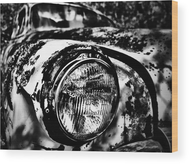 Well Wood Print featuring the photograph Headlights In The Woods by The Artist Project