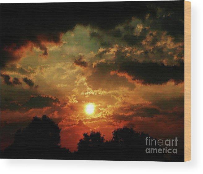 Heat Wave Wood Print featuring the photograph Heat Wave by Scott Allison