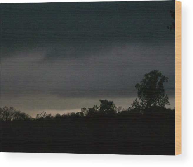 Storms Wood Print featuring the digital art Layers by Wide Awake Arts