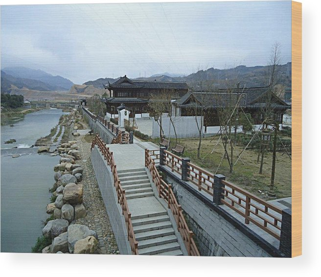 China Wood Print featuring the photograph Lifestyle By The River by JCarlos Rodriguez