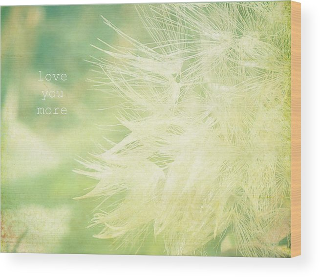 Macro Shot Of Dandelion Gone To Seed. Wood Print featuring the photograph Love You More by Robin Dickinson