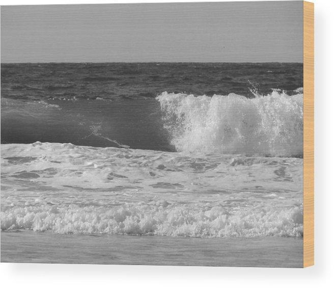 Marina Dunes Beach Wood Print featuring the photograph Marina Incoming by Kathleen Grace