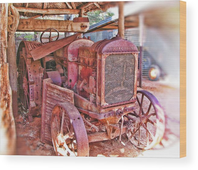 Mccormack Deering Tractor Wood Print featuring the photograph Mccormack Deering Tractor by Douglas Barnard