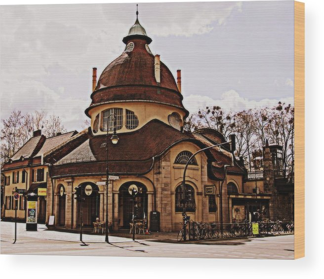 Berlin Wood Print featuring the photograph Mexikoplatz Train Station by Stephanie Olsavsky