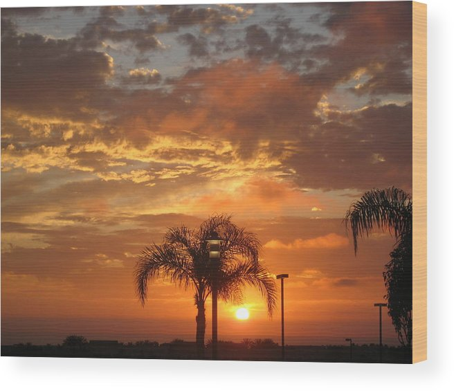 Sunset Wood Print featuring the photograph Moody Sunset by Ruth Edward Anderson
