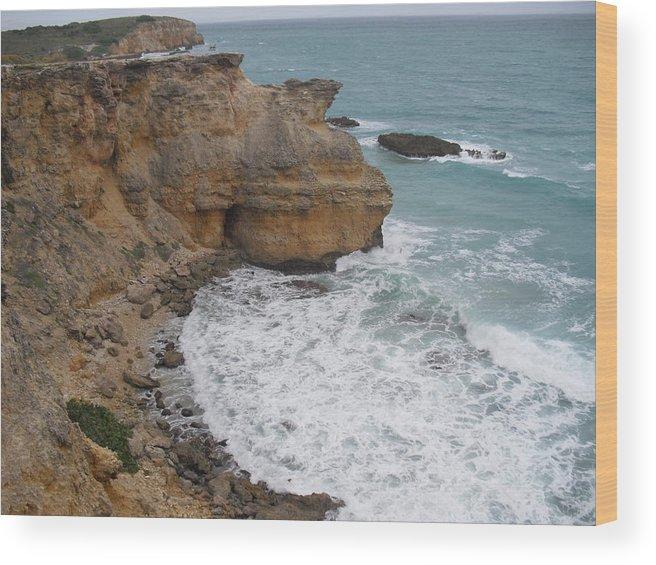 Cliffs Wood Print featuring the photograph Ocean Cliffs by Melissa Torres
