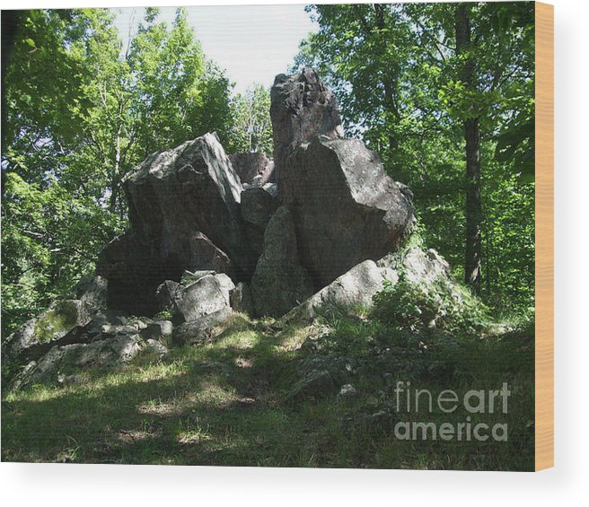 Wood Print featuring the photograph Oe Rocks by Tranquil Haze
