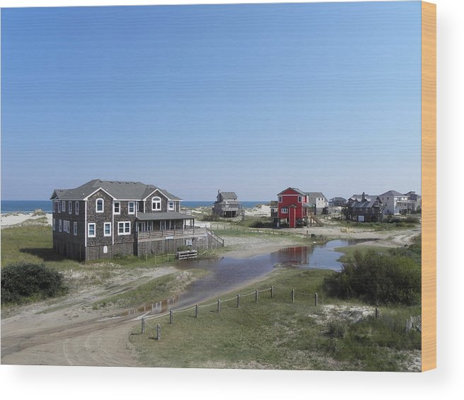Outer Wood Print featuring the photograph Outer Banks Nc by Kim Galluzzo Wozniak