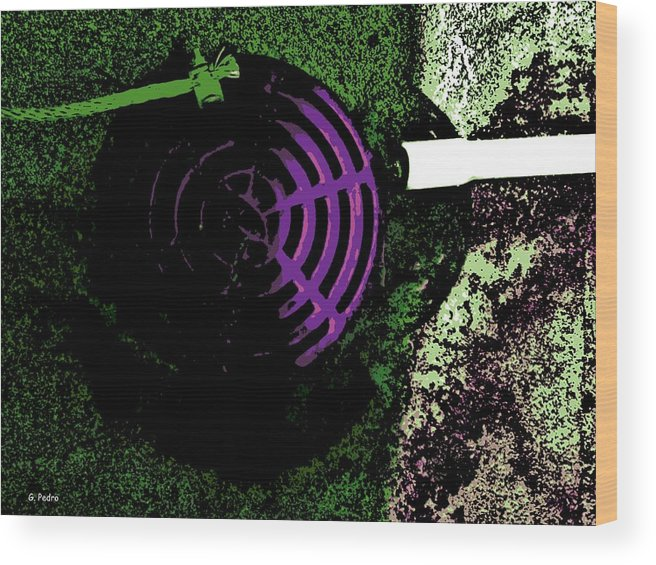 Radioactive Wood Print featuring the photograph Radioactive Drain by George Pedro