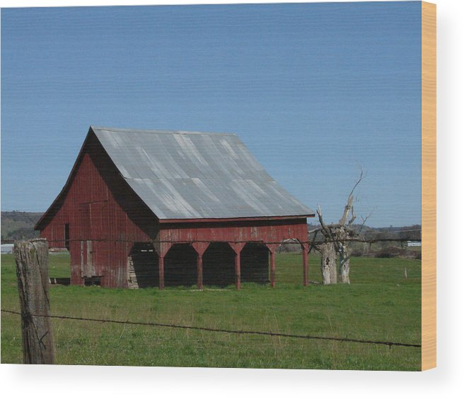Wood Print featuring the photograph Red Barn by April Julian