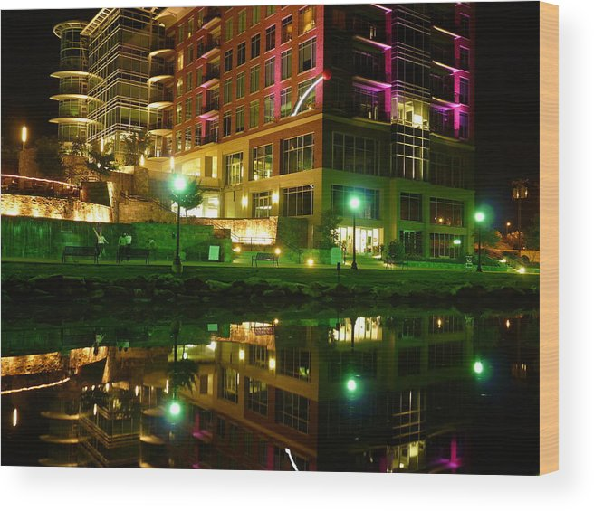 Greenville Wood Print featuring the photograph Reedy River View 8 by Craig Johnson
