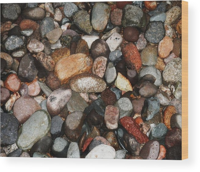 Wood Print featuring the photograph River Rock by Vicki Lomay