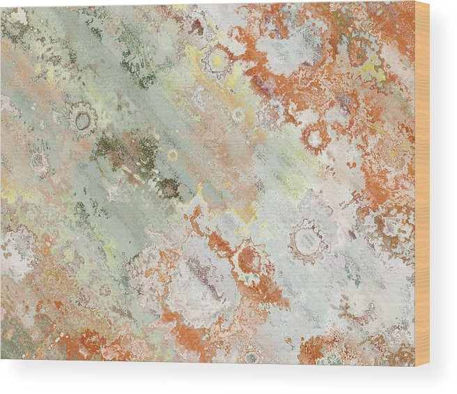 Abstract Wood Print featuring the digital art Rustic Impression by Debbie Portwood
