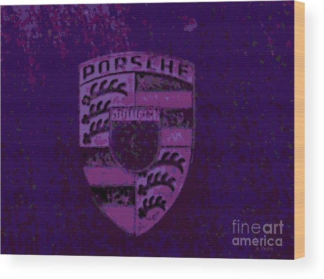 Porsche Wood Print featuring the photograph Rustication by George Pedro