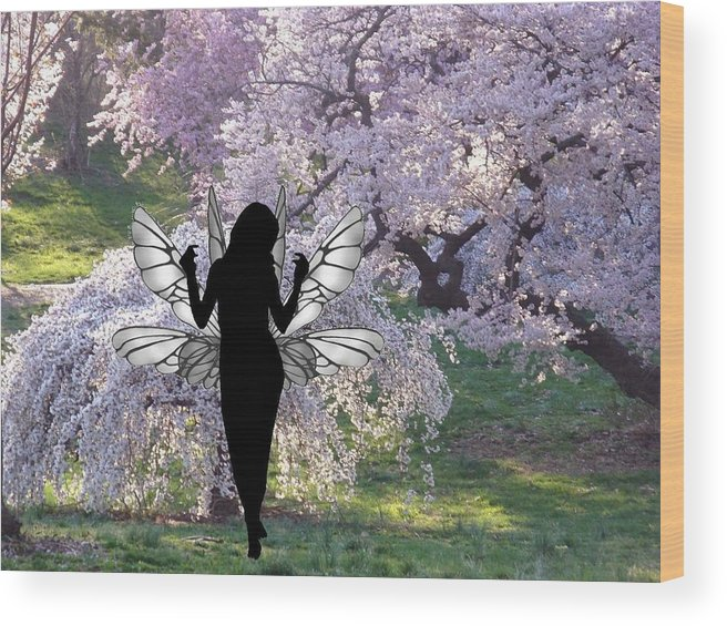 Fairy Wood Print featuring the photograph Spring Spirit 5 by Norman Price