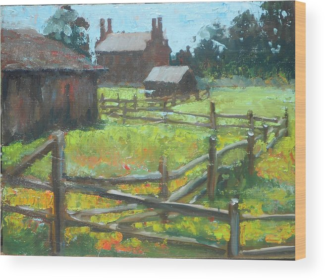 Original Oil Wood Print featuring the painting Spring Time In Nauvoo by Larry Christensen