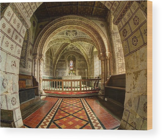 St Georges Wood Print featuring the photograph St Georges Church At Hampnett Gloucestershire by Nick Temple-Fry